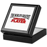 """The World's Greatest Tambourine Player"" Tile Box"