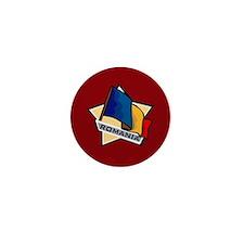"""Romania Star Flag"" Mini Button"