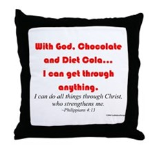 With God...Throw Pillow