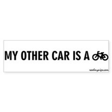 My Other Car Is A Bicycle - Bumper Bumper Sticker
