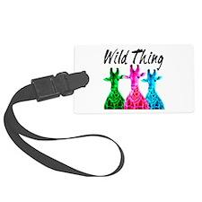 WILD GIRAFFE Luggage Tag