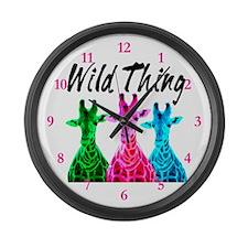 WILD GIRAFFE Large Wall Clock