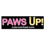 [Yellow Paws] Bumper Sticker