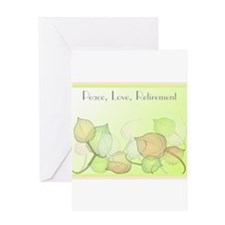 Peace Love Retirement Greeting Cards