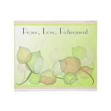 Peace Love Retirement Throw Blanket