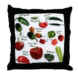 Hot Chili Peppers Throw Pillow
