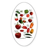 Hot Chili Peppers Oval Bumper Stickers