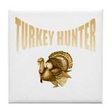 Turkey hunter Tile Coaster