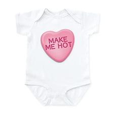 make me hot Candy Heart Infant Bodysuit