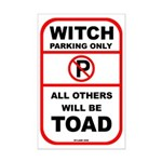 Witch parking only Mini Poster Print
