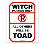Witch parking only Small Poster