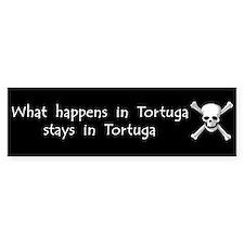 What happens in Tortuga Bumper Bumper Sticker