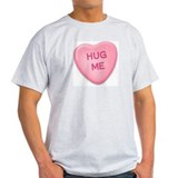 Hug Me Candy Heart Ash Grey T-Shirt