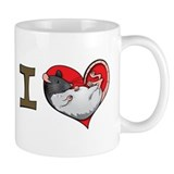 I heart rats (albino and hooded) Small Mug
