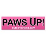 [Black Paws] Bumper Sticker