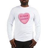 Sugar Daddy Candy Heart Long Sleeve T-Shirt
