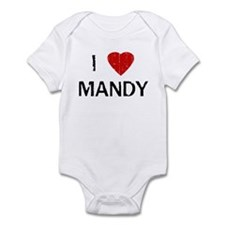 I Heart MANDY (Vintage) Infant Bodysuit