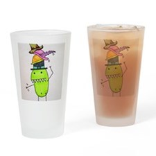 Pea Monster's Hats Drinking Glass
