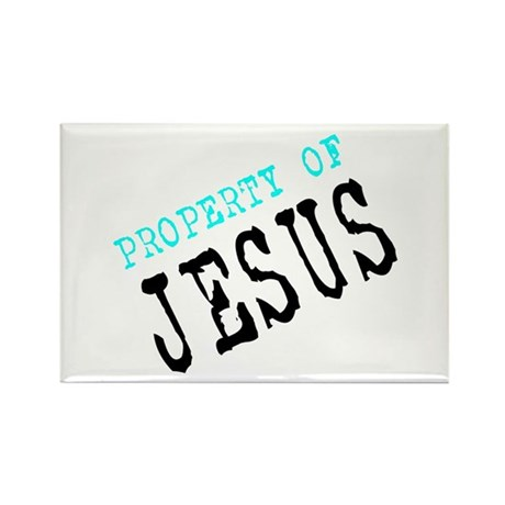 Property of Jesus Rectangle Magnet
