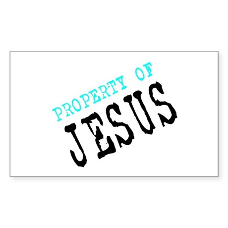 Property of Jesus Rectangle Sticker