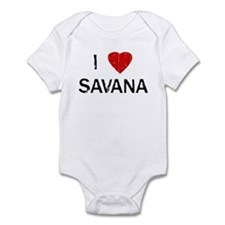 I Heart SAVANA (Vintage) Infant Bodysuit