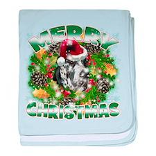 MerryChristmas Great Dane baby blanket