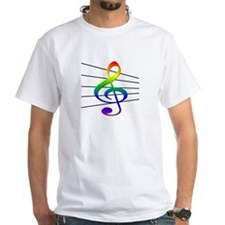 Treble Clef and Staff Rainbow Shirt