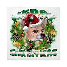 MerryChristmas Chihuahua Queen Duvet