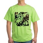 Coloured Pubic Hair Green T-Shirt