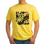 Coloured Pubic Hair Yellow T-Shirt