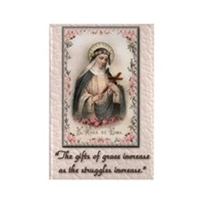 St Rose of Lima Rectangle Magnet