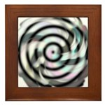Dizzy Flower Framed Tile