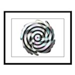 Dizzy Flower Large Framed Print