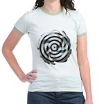 Dizzy Flower Jr. Ringer T-Shirt