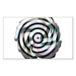 Dizzy Flower Rectangle Sticker