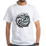 Dizzy Flower White T-Shirt