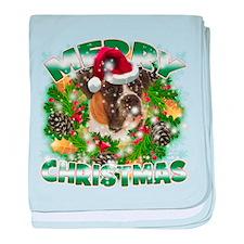 MerryChristmas Boxer baby blanket