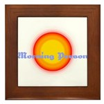 Morning Person Framed Tile