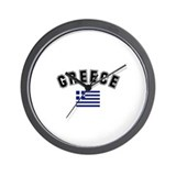 Greece Flag Wall Clock