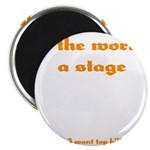 World's a Stage Magnet