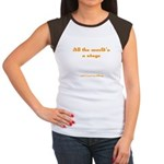World's a Stage Women's Cap Sleeve T-Shirt