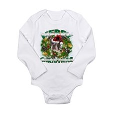 MerryChristmas Boston Terrier Body Suit