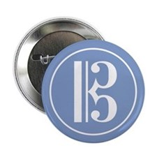 "Alto Clef Blue 2.25"" Button (10 pack)"