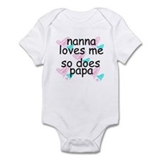 nanna loves me  -so does papa  Infant Bodysuit