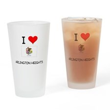 I Love ARLINGTON HEIGHTS Illinois Drinking Glass