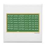 Fast Women, Hot Cars Tile Coaster