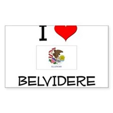 I Love BELVIDERE Illinois Decal