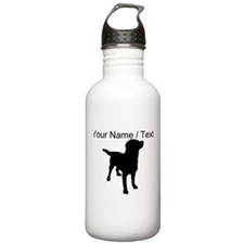 Custom Dog Silhouette Water Bottle