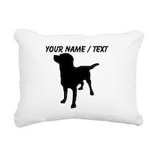 Custom Dog Silhouette Rectangular Canvas Pillow