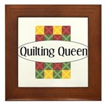 Quilting Queen Framed Tile